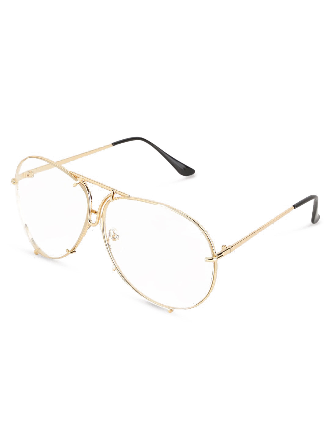 7c58d80a6b Oversized Round Gold Clear Glasses. Tap to expand