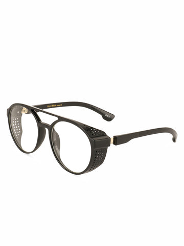 Clear Lens Double Bridge Round Sunglasses