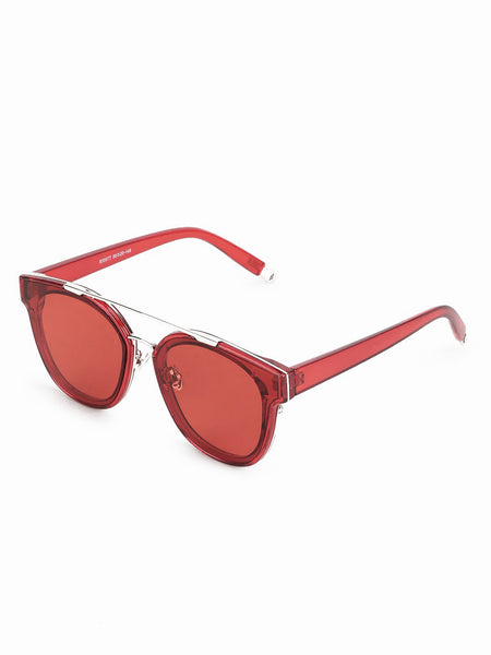 Double Bridge Red Sunglasses
