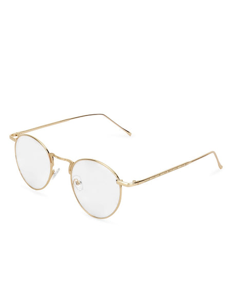 Round Gold Clear Frame
