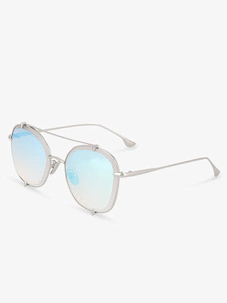 Coloured Lens Pilot Double Bridge Sunglasses