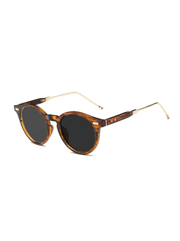 Leopard Sunglasses with metal handle