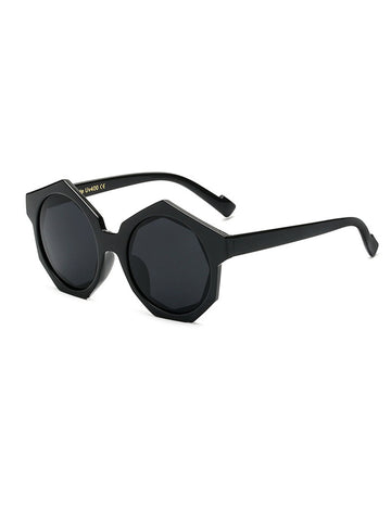 Hexagon Black Sunglasses