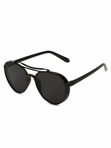 Double Bridge Pilot Black Sunglasses