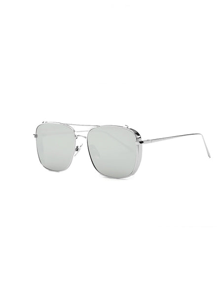 Square Silver Sunglasses