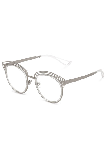 Cat Eye Silver Sunglasses