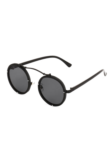 Bridgeless Round Sunglasses
