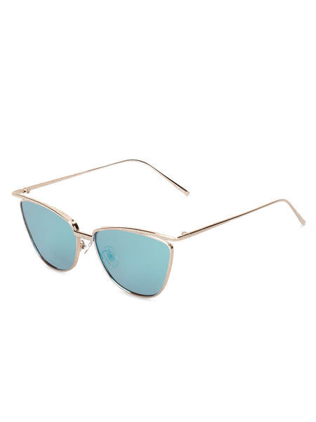 Cat Eye Blue Sunglasses