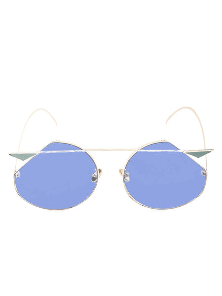Round Sunglasses with Flat Edges