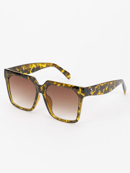 Tinted Lens Square Sunglasses