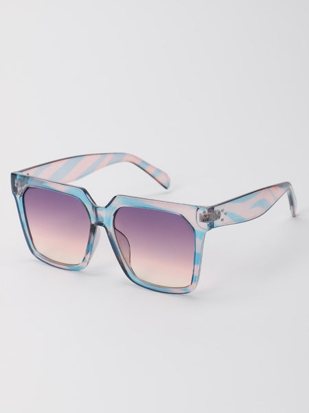 Ombre Tinted Lens Square Sunglasses
