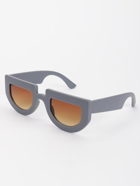 Matte Finish Retro Sunglasses