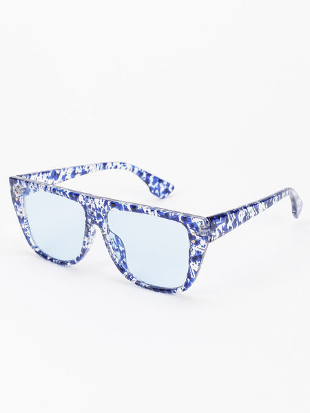 Blotch Ink Detail Classic Sunglasses