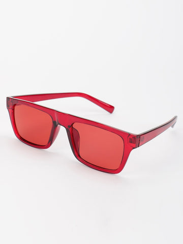 Coloured Tinted Lens Square Sunglasses