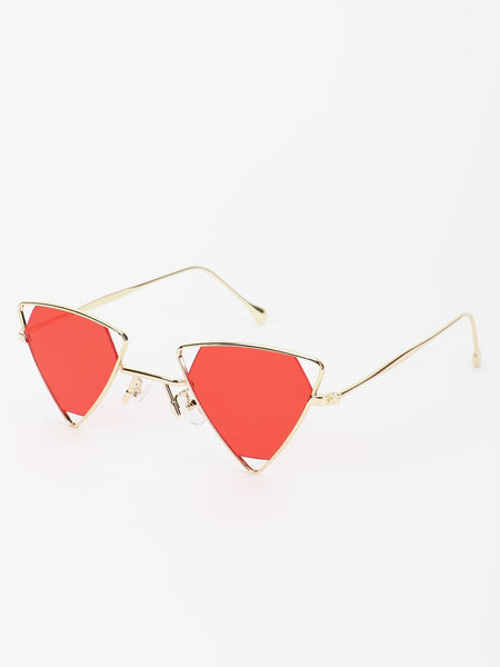 Triangle Frame Retro Sunglasses