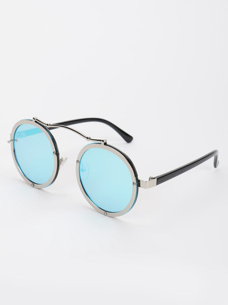 Mirrored Reflective Round Sunglasses