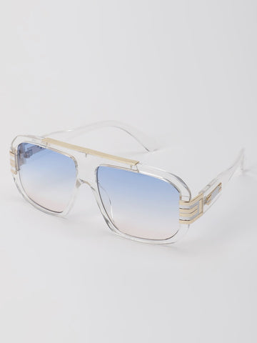 Clear Frame Classic Sunglasses