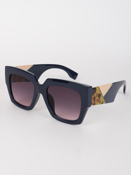 Coloured Frame Square Sunglasses