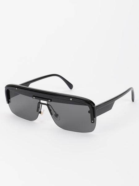 Wide Frame Tinted Retro Sunglasses