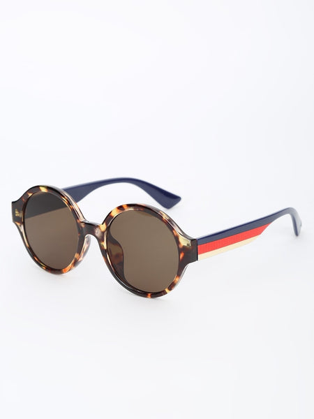 Round Tinted Lens Sunglasses