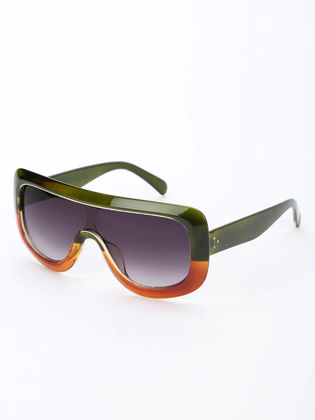 Broad Frame Pilot Sunglasses