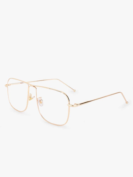 Clear Lens Sunglasses With Gold Frames