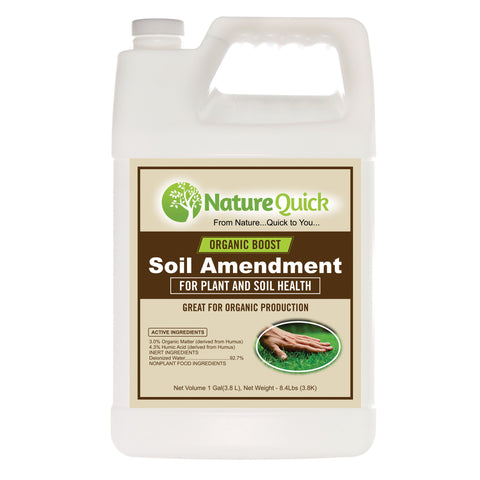 The Organic Boost Soil Amendment by NatureQuick - 1 Gallon Jugs