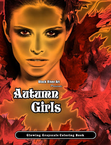Video - Inside Look of Autumn Girls Glowing Grayscale Coloring Book