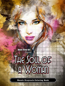 Video - Look Inside of The Soul Of A Woman Mosaic Grayscale Coloring Book