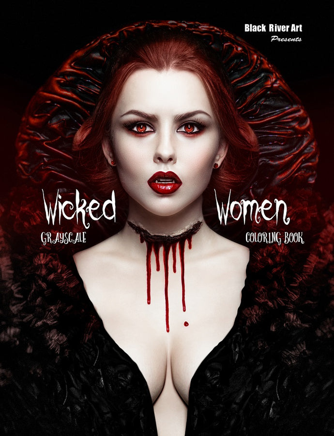 Video - Inside Look of Wicked Women Grayscale Coloring Book