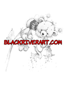 Color Some Cuteness Pretty Blossoms Grayscale Coloring Book