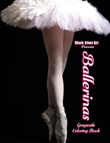 Ballerinas Grayscale Coloring Book