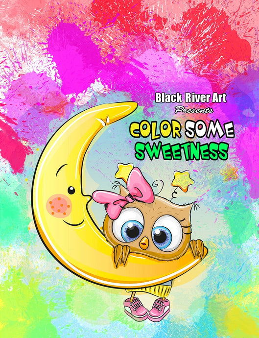 Color Some Sweetness Grayscale Coloring Book - Black River Art