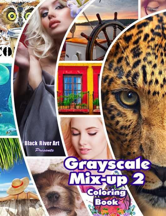 Grayscale Mix-Up Vol. 2 Coloring Book