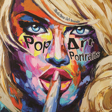 Pop Art Portraits Grayscale Coloring Book