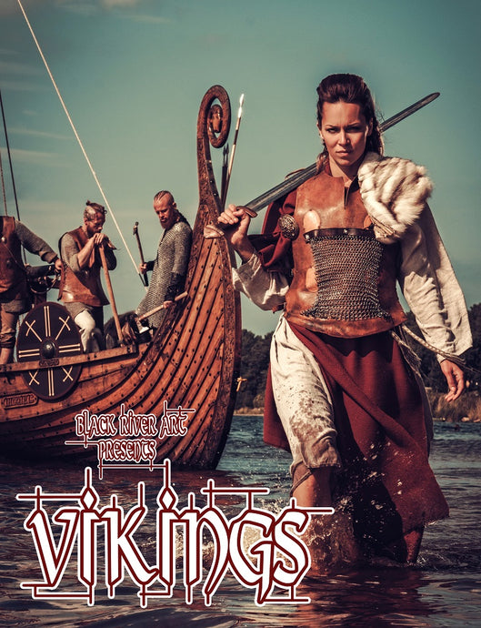 Vikings Grayscale Coloring Book