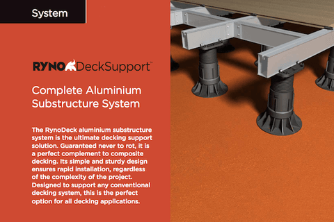 Aluminium Substructure System By RynoDeck