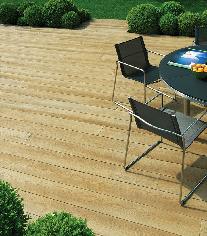 millboard enhanced grain composite decking  golden oak