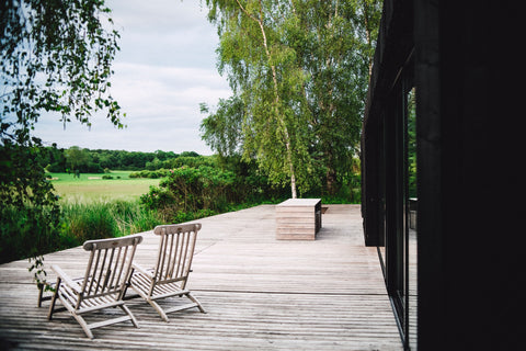 decking next to countryside