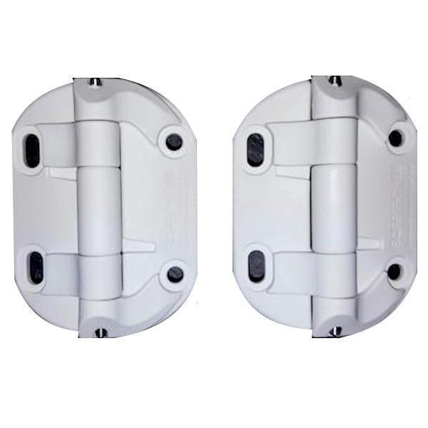 Non Sprung Heavy Duty Hinges (pair Black or White)