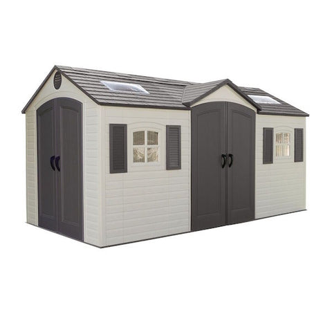 Lifetime Apex Roof Shed 15' x 8' Single or Dual Entrance