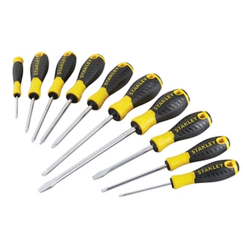 10 Piece Stanley Essential Screwdriver Set PH/SL/PZ