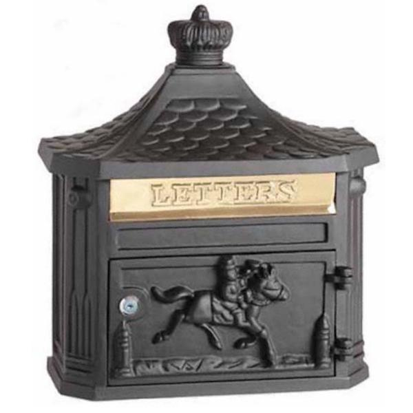 Black Mail Box - Wall Mounted Es01/39 w.410mm x h.470mm x d.150mm