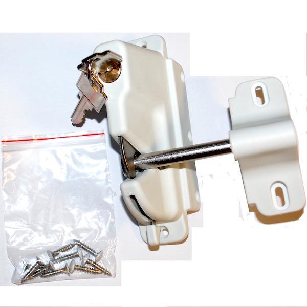 Gravity Gate Latch With Key Lock (Black or White)