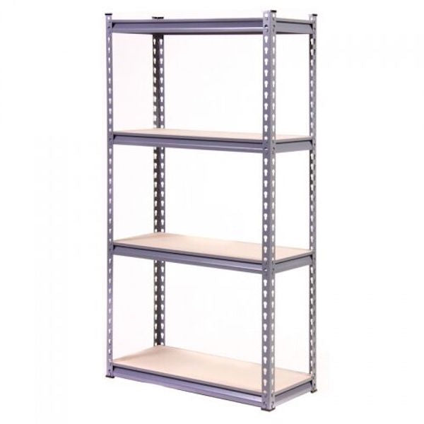 Silver Heavy Duty 4 Tier Shelving Unit