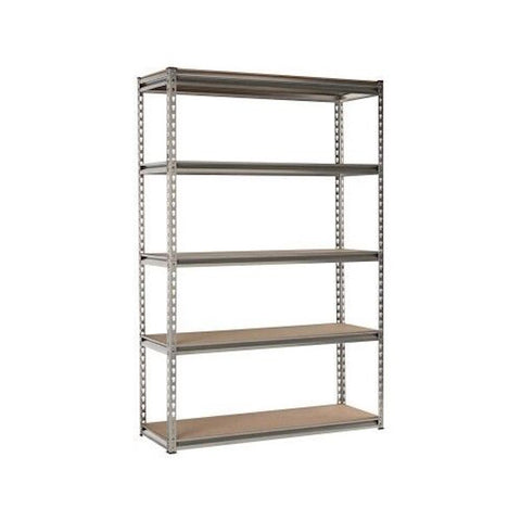 Silver Heavy Duty Boltless 5 Tier Shelving Unit