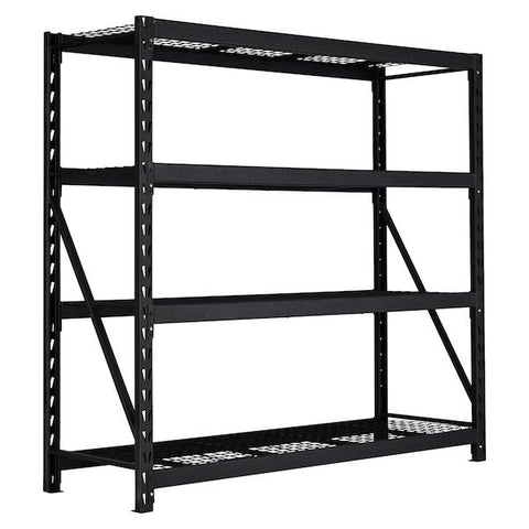 Wrinkle Black Heavy Duty Industrial 4 Shelf Racking Unit