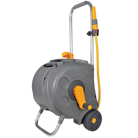 Hozelock 2416 Freestanding Compact Hose Reel & 30 Metres of 12.5mm Hose