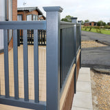 Super Rail Premium Foiled Balustrade Section with Bracket Shrouds
