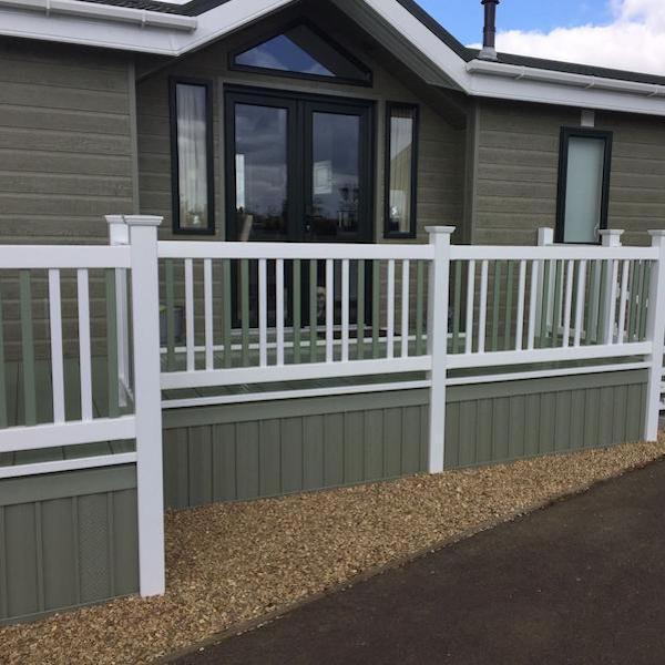 Deck Skirting Materials : Caravan vinyl skirting kit extension deck supermarket